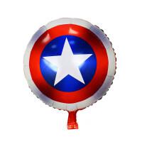 盾牌铝膜气球 儿童男宝宝周岁生日主题派对布置装饰