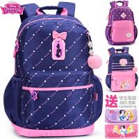 迪士尼书包小学生女童1-3-6高年级女孩公主韩版儿童休闲双肩背包
