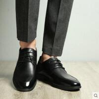 富贵鸟夏季新款男鞋真皮休闲皮鞋男士英伦尖头黑色商务正装鞋婚鞋