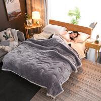 高级双层毛毯冬季加厚双层毛毯法兰绒毯午休毯薄被子珊瑚毯子单双人床单空调毯