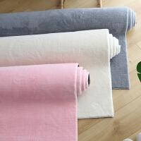 简约北欧地毯卧室客厅床边加厚地垫满铺纯色针织棉地毯防滑可水洗