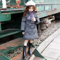 女童棉衣2018新款冬装儿童中长款洋气棉袄外套中大童加厚女孩