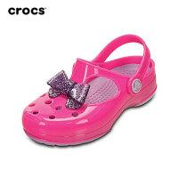 Crocs卡骆驰正品儿童鞋蝴蝶结小卡丽玛丽珍洞洞鞋女童沙滩鞋凉鞋花园鞋|15528