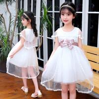 公主裙女童蓬蓬纱夏季儿童洋气连衣裙中大童无袖披肩裙子