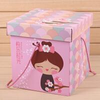 宝宝满月零食品诞生日礼物周岁礼品回礼盒正方形包装盒子大号礼包