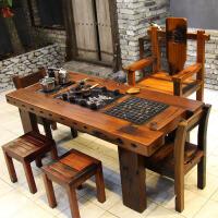 茶桌椅组合中式茶台实木家具功夫茶几阳台泡茶简约小茶艺桌 整装