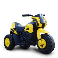 W 儿童电动摩托车带灯光音乐可前进后退可坐玩具车电瓶车