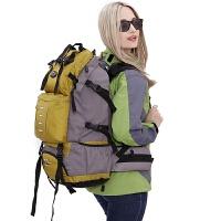 2大容量双肩包男韩版多功能运动背包户外旅行包女休闲登山包50L