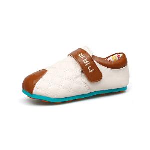 比比我童鞋男童皮鞋公主单鞋女童皮鞋软底魔术贴宝宝鞋儿童鞋