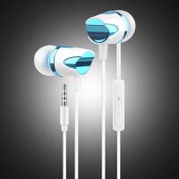 手机耳机线控重低音音乐运动高保真苹果oppo华为vivo小米中兴入耳式K歌HiFi耳塞-蓝