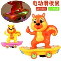 维莱 2017新款儿童电动发光音乐玩具169-46电动滑板松鼠万向地上满天星 *混发
