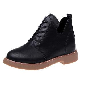 WARORWAR新品YM88-C22冬季韩版低跟鞋舒适女士靴子切尔西靴短靴