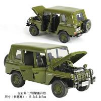 2个合金汽车模型牧马人吉普指挥官自由侠 威利斯越野车沃尔沃 军绿色 五开门202吉普