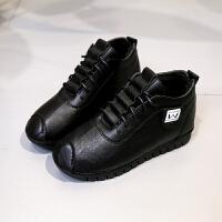 棉鞋女冬2018新款韩版百搭运动休闲鞋平底加绒女鞋学生鞋保暖舒适 黑色 加绒