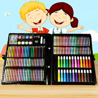 水彩笔套装儿童安全无毒可水洗儿童水彩画笔套装幼儿园小学生油画棒炫彩棒蜡笔美术涂鸦画画笔水溶性彩笔