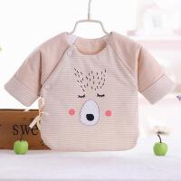 婴儿衣服新生儿棉衣上衣秋冬季纯棉加厚半背衣初生婴儿宝宝和尚服