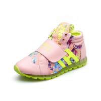 比比我2017春秋季儿童高帮学生休闲运动鞋单鞋男童女童韩版童鞋潮