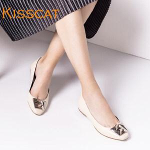 接吻猫休闲平跟鞋浅口单鞋平跟女鞋DA76683-51