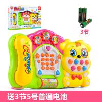 宝宝玩具电话机手机儿童1-2-3岁婴儿0-6-12个月早教仿真电话 电池款狗狗电话机 送电池