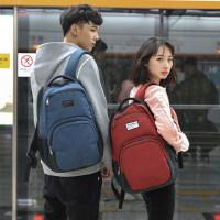 学院风高中初中学生书包 韩版潮背包女电脑书包休闲新款双肩包男
