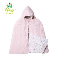 迪士尼Disney婴幼儿披风儿童斗篷秋冬男女宝宝天鹅绒加厚保暖披风154P702