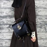 迷你双肩包女新款韩版单肩斜挎多用复古英伦个性小背包包