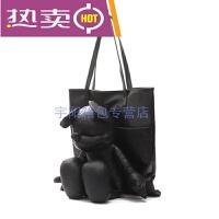 新款女包米奇卡通大容量单肩包韩版时尚手提包可爱公仔包包简约百搭斜跨包休闲手拎包 黑色