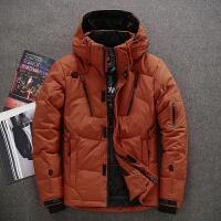新款男士户外羽绒服短款青年冬季保暖修身加厚运动防寒衣外套 3X
