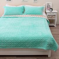 ???秋冬新品三层复合双面毛毯水晶绒丝滑法莱绒毛毯空调多功能毯