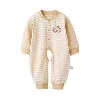 歌歌宝贝 婴儿连体衣0-3个月春秋新生儿衣服纯棉内衣宝宝彩棉哈衣长袖爬服