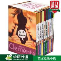 英文原版 Andrew Clements' School Stories 安德鲁克拉门校园系列10本盒装青少年小说 趣