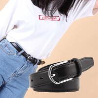真皮腰带女士细软学生潮流时尚休闲牛皮装饰牛仔裤针扣漆皮带