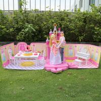 乐吉儿芭比娃娃梦幻甜甜屋套装礼盒声光音乐儿童王子公主女孩玩具
