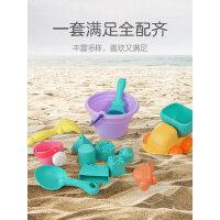 儿童沙滩工具铲子桶宝宝洗澡戏水花洒挖沙玩决明子男女孩玩具套装