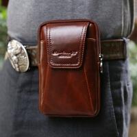 休闲男士真皮手机腰包穿皮带腰包迷你零钱包多功能4.7-5.5-6寸