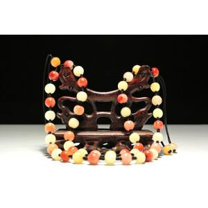 自然取材 寿山老性结晶芙蓉石48颗珠链(长度可调)