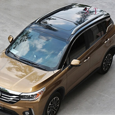 汽车车顶膜加厚仿全景天窗膜 高亮黑色三层车顶贴膜改装改色膜