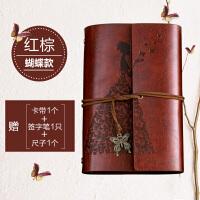 复古牛皮纸记事本小随身韩国创意日记账本a6活页笔记本子文具