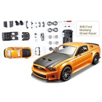 2015款1:24福特野马拼装车模仿真合金汽车拼装模型组装模型 橙铜色 野马Street Racer 082