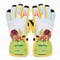 冬季儿童 防水防风保暖手套 户外运动防寒厚玩雪单板男女滑雪手套