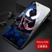 毒液手机壳苹果6splus手机壳iphone6玻璃壳男款6plus新款软硅胶边后壳6s潮女款六pul 苹果6/6S 正