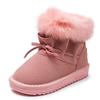 №【2019新款】冬天小朋友穿的女童雪地靴新款短靴中大童靴子公主童鞋儿童棉靴子