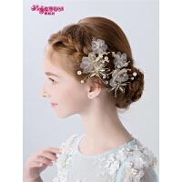 女孩头饰发卡花朵发夹花童头饰儿童发夹发饰女童公主韩式发夹