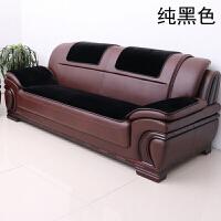冬季办公室皮沙发坐垫久坐防滑欧式加厚毛绒组合三人沙发垫子定做