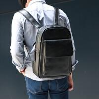 2018新男包韩版潮书包中学生女PU皮男士双肩包 男背包休闲旅行包 黑色
