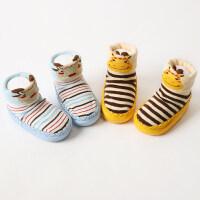 2双秋冬厚宝宝0-3-6-12个月新生儿宝宝地板袜子婴儿袜子松口 s码(底长11CM)建议年龄0-9个月
