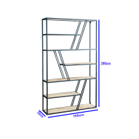 铁艺实木置物架书架隔断北欧屏风简约工业风陈列架落地玄关展示柜