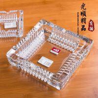 YG6正方形高档礼品烟灰缸 宾馆酒店办公烟缸 创意水晶玻璃烟灰缸