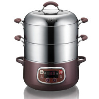 电蒸锅家用不锈钢大容量多层三层电火锅蒸菜锅炖汤锅