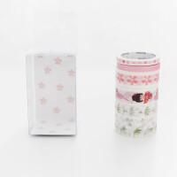 悦木日式樱花手账和纸胶带组合装5入 日记相册diy装饰胶带